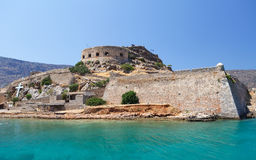 Crete Spinalonga fästning Grekland Royaltyfri Fotografi