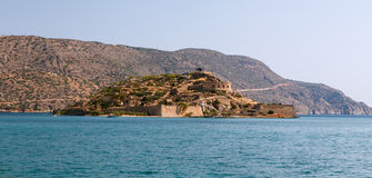 Crete Spinalonga Fortress Greece Royalty Free Stock Image