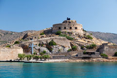 Crete Spinalonga Fortress Greece Stock Photography