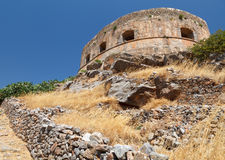 Crete Spinalonga Fortress Greece Stock Photo