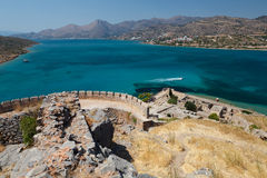 Crete Spinalonga Fortress Greece Stock Images