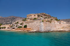 Crete Spinalonga Fortress Greece Stock Image