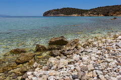 The Crete stony beach Royalty Free Stock Photo