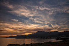 Crete sunset Royalty Free Stock Image