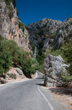 Crete Theriso gorge. The road through the gorge of Therisos in Crete Stock Photo