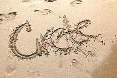 Crete - tittle at beach. Crete - tittle at sandy beach Royalty Free Stock Image