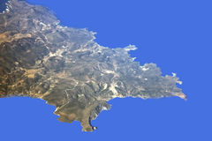 Crete view from plane Royalty Free Stock Image