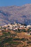 Crete village in mountains Stock Photos