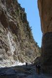crete wąwozu Greece wyspy samaria Fotografia Stock