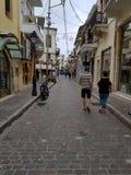 Crete walk around town stock images