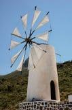 crete windmill royaltyfria bilder