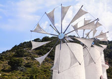 Crete windmill Royalty Free Stock Image