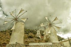Crete Winmils Stock Image