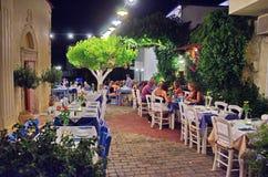 Creten Dinner Time at Malia Stock Photo