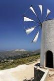 Cretian Windmill. Cloth-vaned windmill in Crete Stock Photo