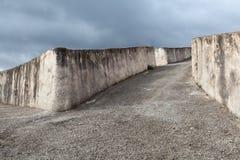 Cretto di Burri,在艺术作品变换的地震废墟 免版税库存照片
