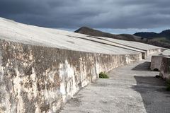 Cretto di Burri, concrete work of art in Sicily Stock Images