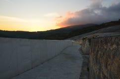 Cretto di Burri, ruinas del terremoto transformadas en un arte del od del trabajo Fotos de archivo