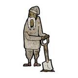 creusement de paysan de bande dessinée illustration libre de droits