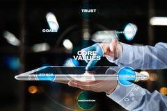 Creusez les affaires de valeurs et le concept de technologie sur l'écran virtuel photos stock