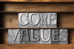 Creusez les valeurs image stock