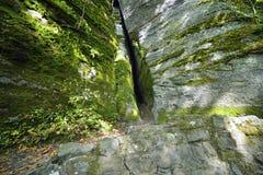 Crevasse στο πρόσωπο βράχου στοκ φωτογραφία με δικαίωμα ελεύθερης χρήσης