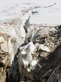 Crevasse au glacier de Vigne Image libre de droits