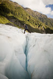 Crevasse Crossing Royalty Free Stock Photos