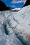 Crevasse de glacier Images libres de droits