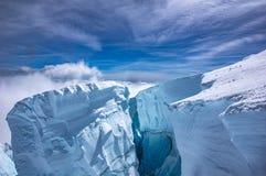 Crevasse de montagne Photo libre de droits