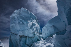 Crevasse de montagne Image libre de droits