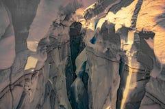 Crevasse de montagne Photographie stock