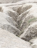 Crevasse of dry land near mud volcano Stock Image