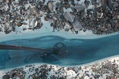 Crevasse en glacier Alaska de Matanuska Images stock