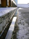 Crevasse et eau Images stock