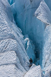 Into the crevasse Stock Image