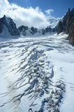 Crevasse on Glacier Royalty Free Stock Photos