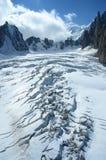 Crevasse on Glacier Royalty Free Stock Photos