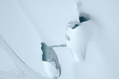 Crevasse nearby Jungfraujoch in Alps in Switzerland Royalty Free Stock Image