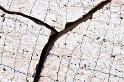 Crevasse rugueuse dans le granit Images stock