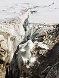 Crevasse at Vigne Glacier Royalty Free Stock Image