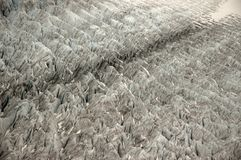 Crevasse wzór Mendenhall lodowiec Fotografia Royalty Free
