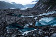 Crevasses ледника Вальдес Стоковые Изображения RF