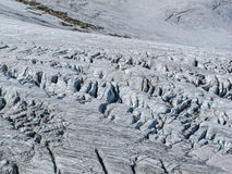 Crevasses in a glacier Royalty Free Stock Images