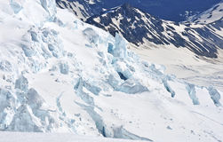 Crevasses on Mount Rainier, Washington Royalty Free Stock Image