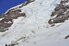 Crevasses on Mount Rainier, Washington, USA Royalty Free Stock Photos