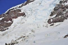 Crevasses on Mount Rainier, Washington, USA Royalty Free Stock Photos