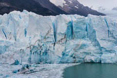 Crevasses in Perito Moreno glacier Royalty Free Stock Photo