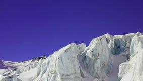 Crevasses sur un glacier banque de vidéos