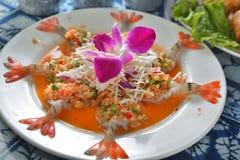 Crevette assortie d'Ama-ebi de sashimi Image libre de droits